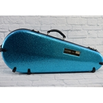 CALTON MANDOLIN GLITTER SMOOTH CASE BLUE/SILVER