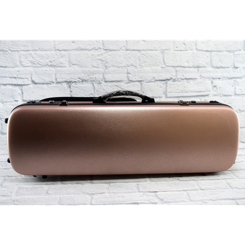 JR MUSIC PC OBLONG VIOLIN CASE - METALLIC ROSE GOLD